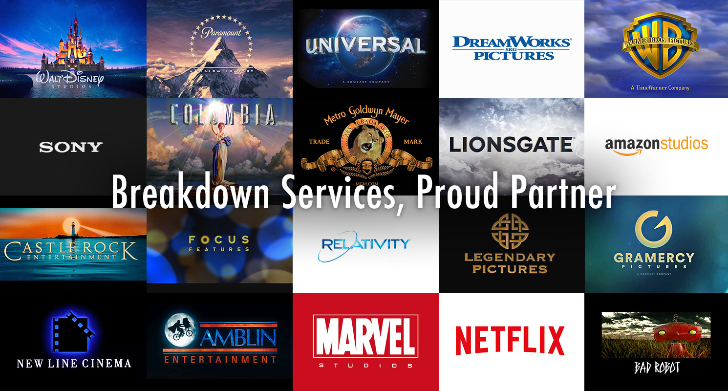 Proud partner with the following Studios.
